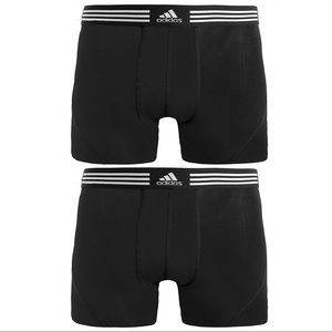 adidas Athletic Stretch Cotton Trunks (2-Pack)